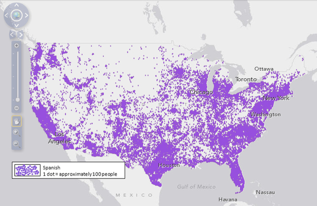 World Wide Languages Communication Making The World Smaller - French map of the us